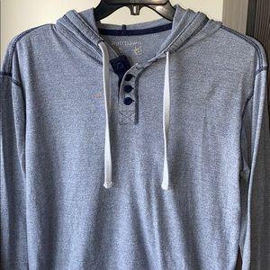 Men's Button-up T-Shirt Hoodie
